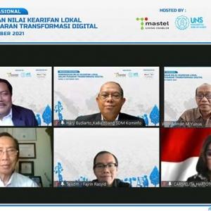 Webinar Nasional Keberadaan Nilai Kearifan Lokal dalam Pusaran Transformasi Digital